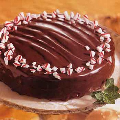 Triple Chocolate Cake With Chocolate Peppermint Filling Epicurious Com